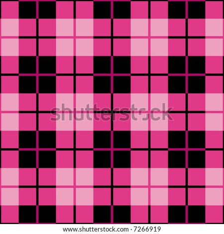 """A seamless 12"""" square plaid pattern in magenta and black. - stock photo"""