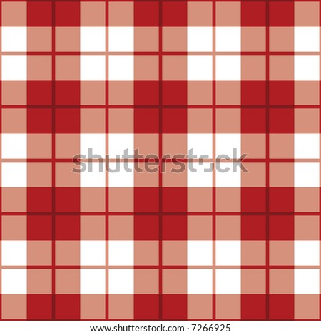 """A seamless 12"""" square plaid pattern in red and white. - stock photo"""