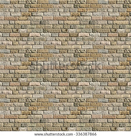 A seamless texture of a brick wall perfect for high quality backgrounds. - stock photo