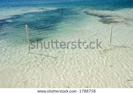 A seascape in Isla Mujeres, mexico. - stock photo