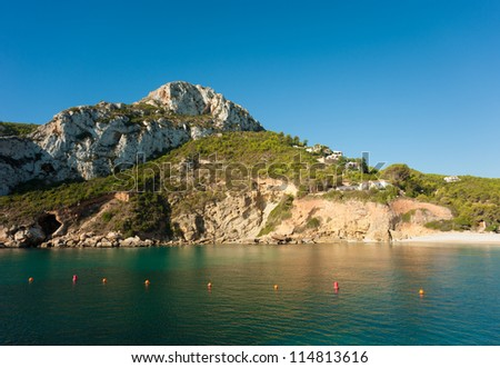 A secluded bay in Javea, on the Costa Blanca