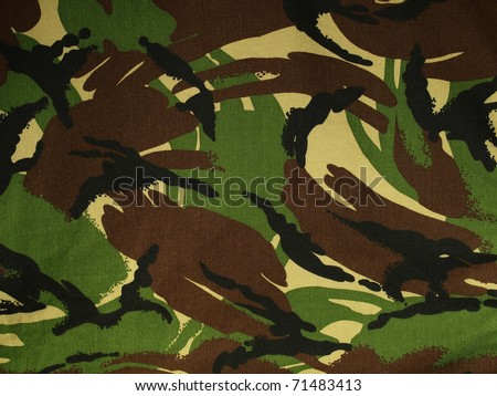 A section of British DPM camouflage fabric. - stock photo