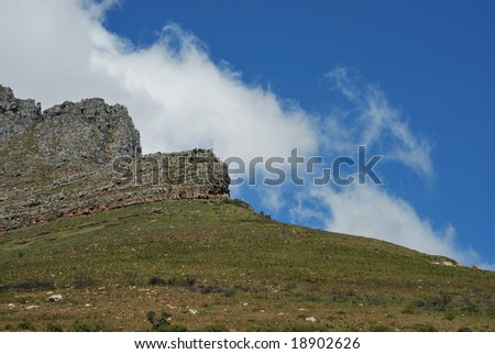 A section of Table Mountain found in Cape Town, South Africa