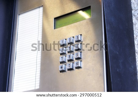 A security key pad to open doors.                  - stock photo
