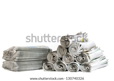 A selection of newspapers - stock photo