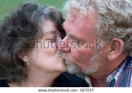 A senior couple in love - stock photo