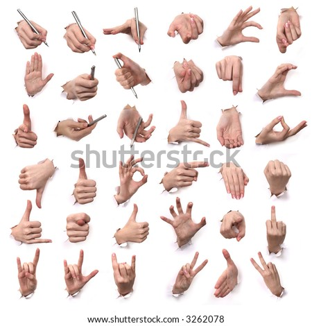 "A series "" Gestures of hands "". All"