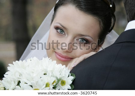 A series of wedding pictures. - stock photo