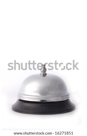 A service bell isolated on a white background - stock photo