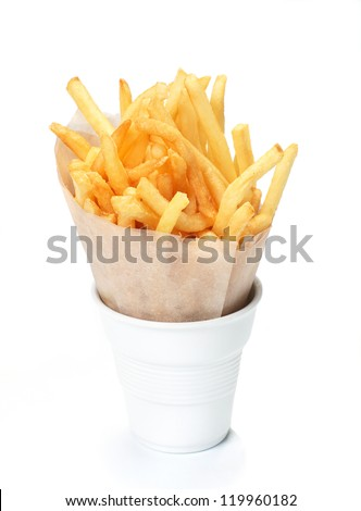 A serving of french fries. - stock photo