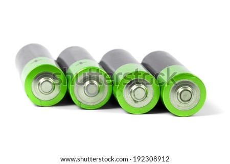 A set a of AA size batteries  - stock photo