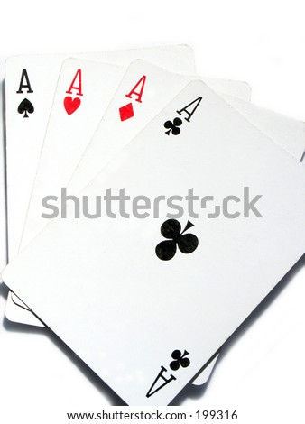 a set of aces - stock photo