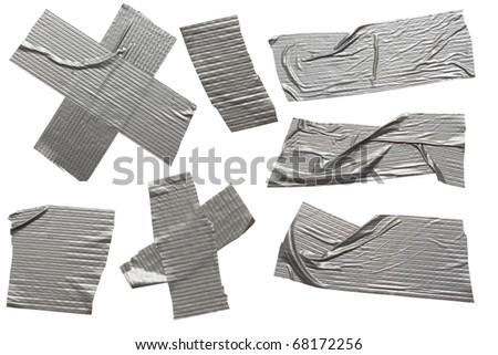 a set of high resolution scotch stripes on white - stock photo