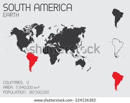 A Set of Infographic Elements for the Country of South America - stock photo