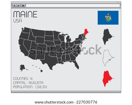 A Set of Infographic Elements within a Web Browser for the State of Maine