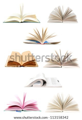 A set of Opening books - stock photo