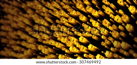 a set of shiny stars in motion for advertise - stock photo