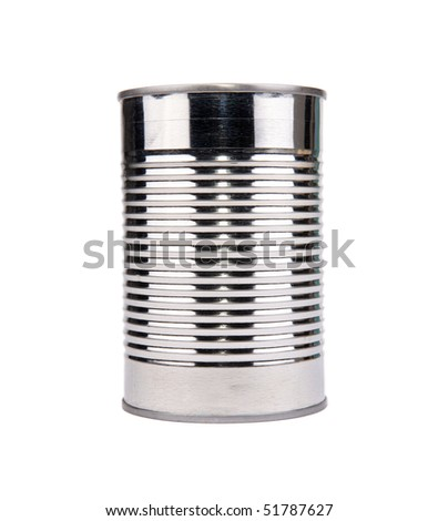 A shiny can against white background - stock photo