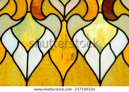 A shiny glass texture background with mosaic tile pieces - stock photo