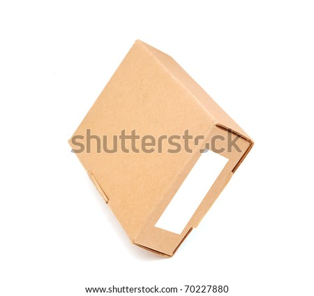 A shipping box with label - stock photo