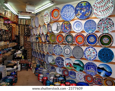 A shop in the Grand Bazaar from Istanbul (Turkey) - stock photo