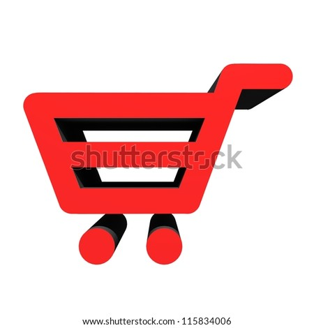 A shopping basket isolated against a white background - stock photo
