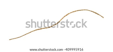 A short string isolated on a white background. - stock photo