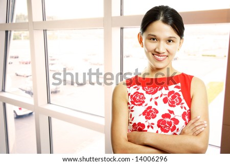 A shot of a beautiful asian businesswoman in the office