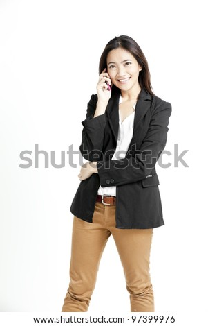 A shot of a beautiful asian businesswoman on the phone