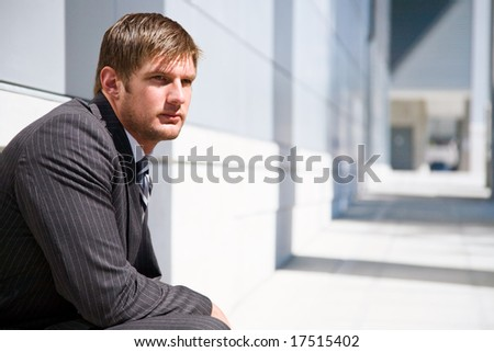 A shot of a confident caucasian businessman - stock photo
