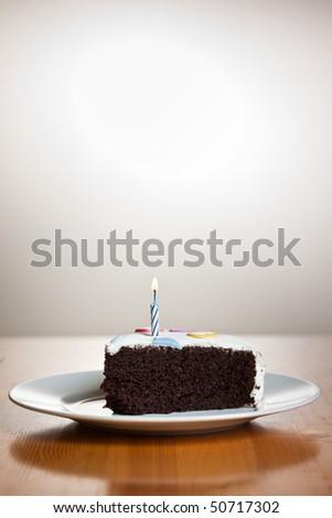 A shot of a delicious homemade birthday cake - stock photo