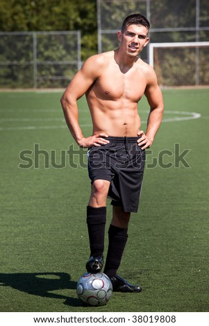 A shot of a hispanic soccer or football player