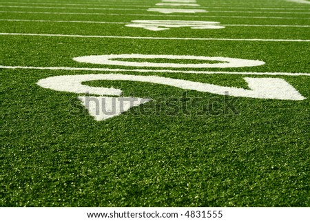 A shot of an american footbal field - stock photo