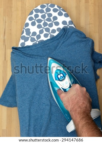 A shot of ironing and laundry items - stock photo