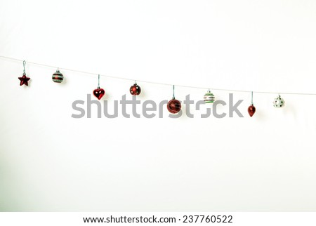 A shot of some cute Christmas bobbles - stock photo