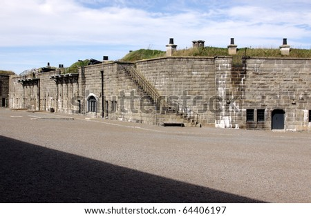 A shot of the inside of the Halifax Citadel, in Halifax Nova Scotia, Canada. - stock photo