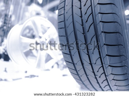 a shot of tyre close up