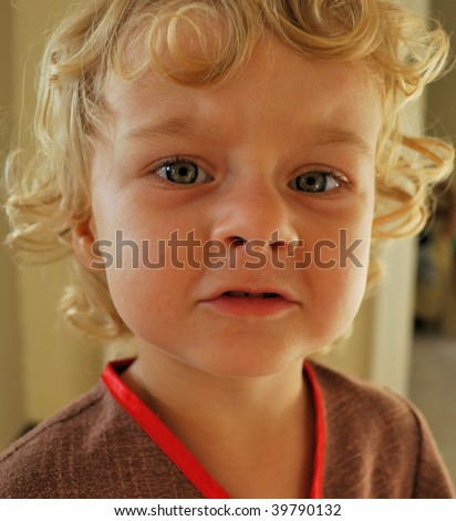 A sight of adorable little girl - stock photo