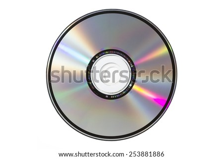 A sigle CD on white blackground, isolated
