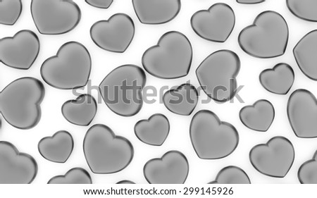 A silver heart isolated on white background - stock photo