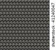 A silver woven texture that tiles seamlessly - stock vector