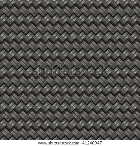 A silver woven texture that tiles seamlessly - stock photo
