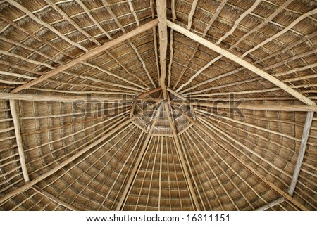 A simple thatch roof - stock photo