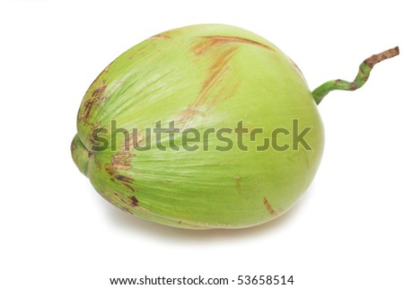 A single green coconut