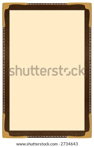 a single page leather menu - stock photo