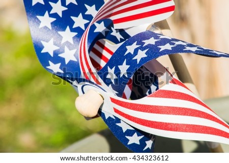A single patriotic pinwheel object