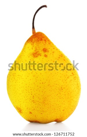 A single pear  isolated on white.