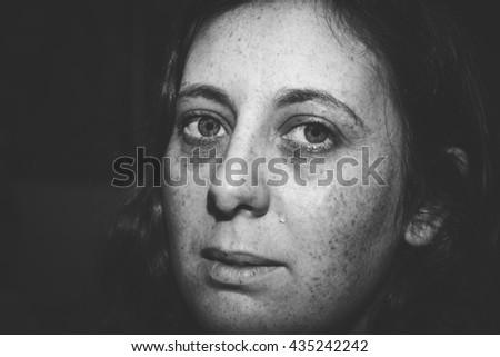 A single tear drop - stock photo