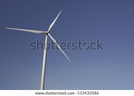 A single wind turbine for electric generator