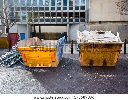 A skip full of rubbish - stock photo